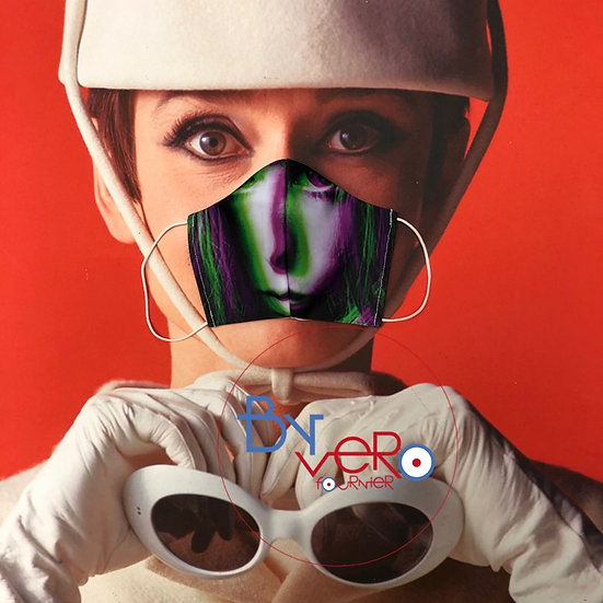 Masque unique iconique Jane Birkin 3D effect