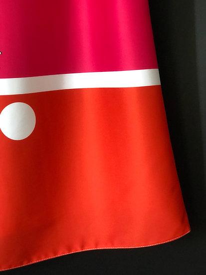 robe rose/rouge mondrianesque / Mondrian's dress pink & orange
