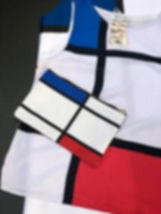 robe, top et pochette coordonnés par Juste une impression