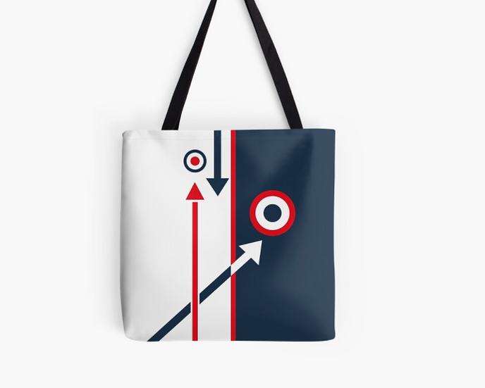 Sac Modernist Cocarde/Flèches Bleu/Blanc/Rouge