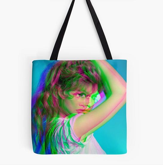 sac Brigitte Bardot effet 3D multicolore