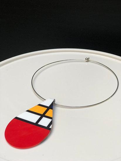 pendentif inspiration Mondrian (Taille L)