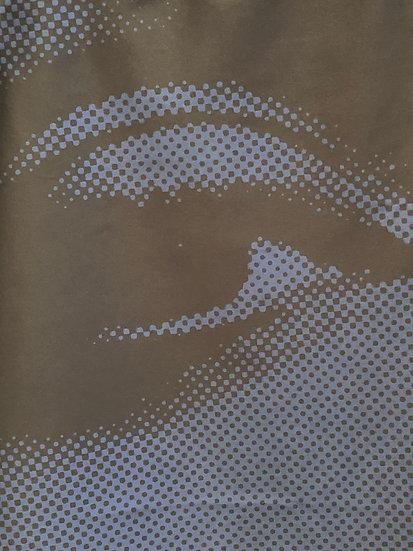 Uma see Blue in Black / Uma Thurman halftone dress