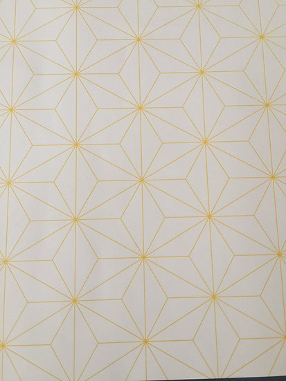 Papier peint rétro/vintage scandinave motif jaune