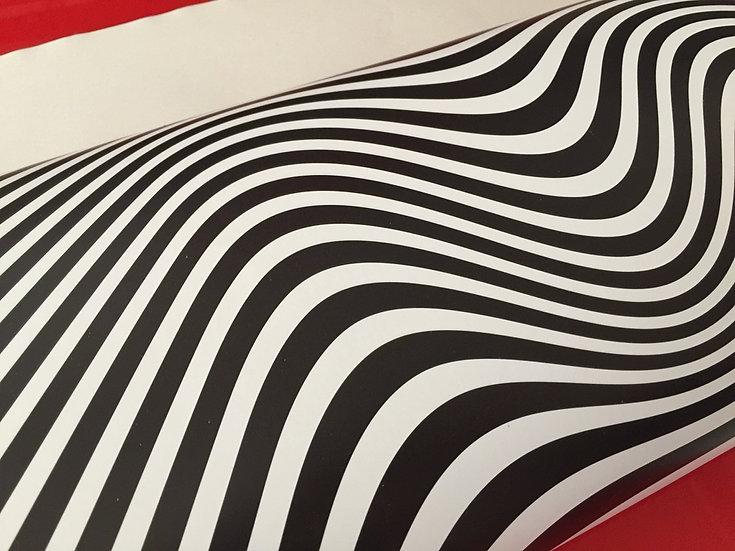 Papier peint rétro/vintage art cinétique noir & blanc