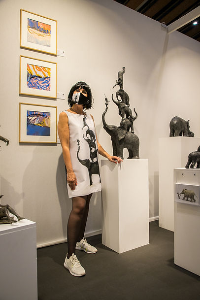 robe sculpture cinqu éléphants Sophie VERGER by Véronique FOURNIER Design
