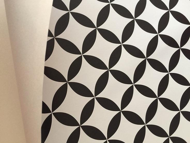 Papier peint rétro/vintage scandinave noir & blanc