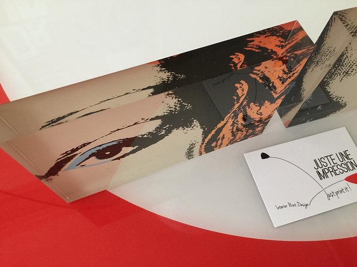 bloc plexiglass imprimé focus oeil Blondie