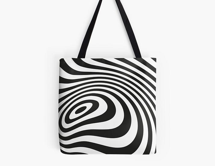 sac psychédélique noir & blanc