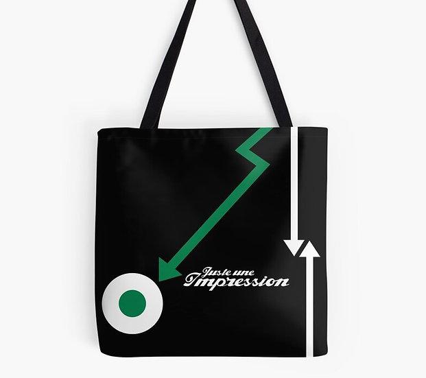 sac cocarde/flèche vert/blanc/noir by Juste une impression