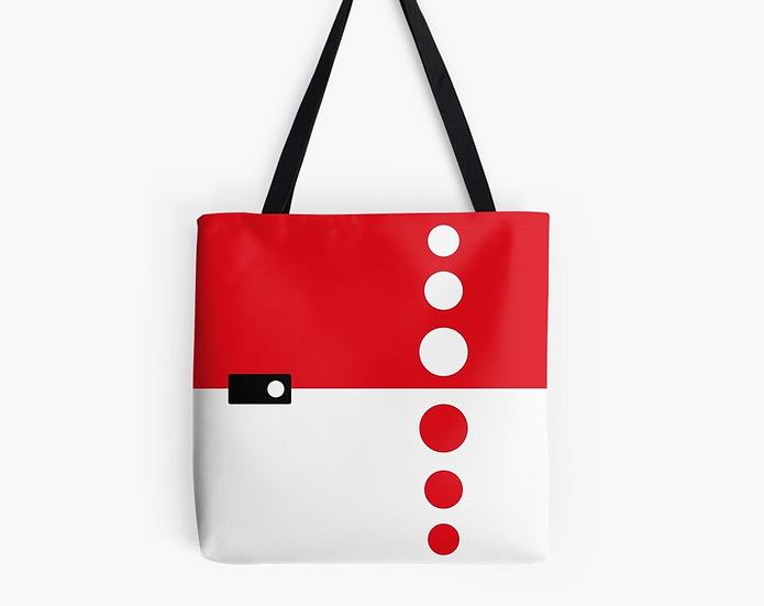 sac sixties à pois rouge & blanc
