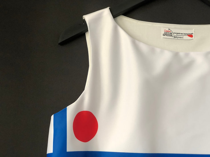 robe bleu/blanc/rouge mondrianesque / Mondrian's dress blue/red/white