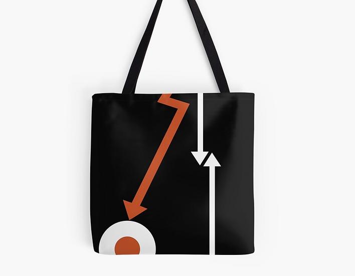 sac cocarde/flèche orange/blanc/noir by Juste une impression