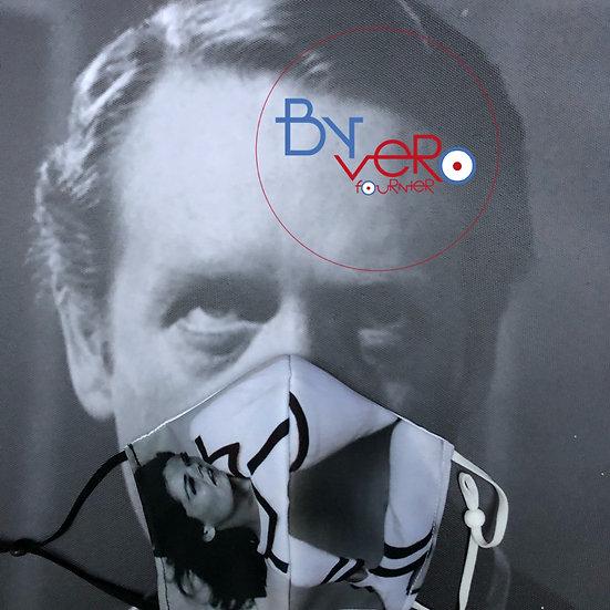 Masque tissu imprimé Diana Rigg / Emma Peel Mode/Fashion Black & White
