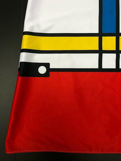 robe sixties Mondrian revisité / Revisited Mondrian's dress