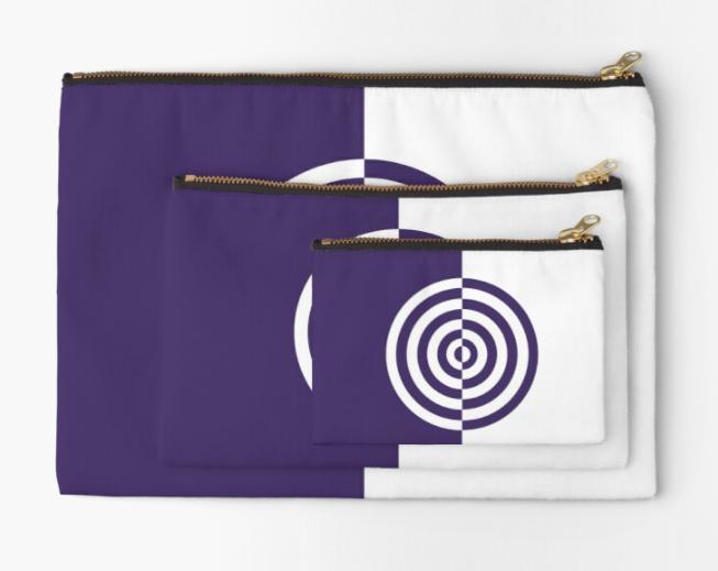 pochetteOpArt Purple target