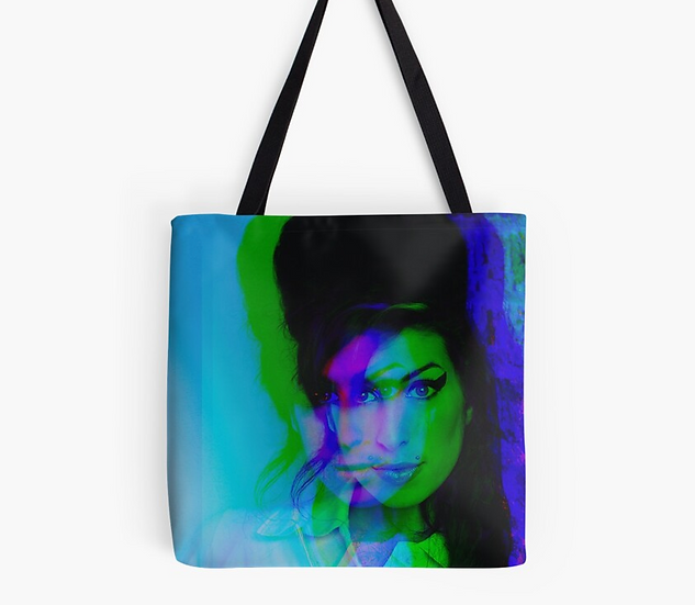 sac Amy Winehouse effet 3D multicolore