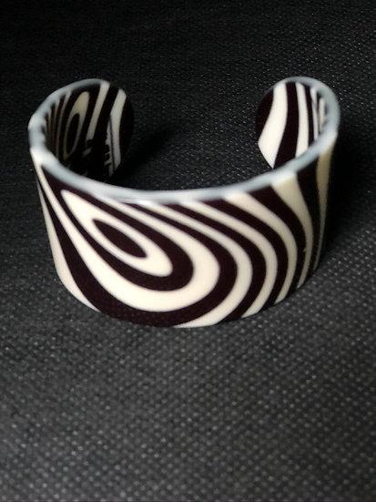 bracelet manchette graphique psychédélique/cinétique
