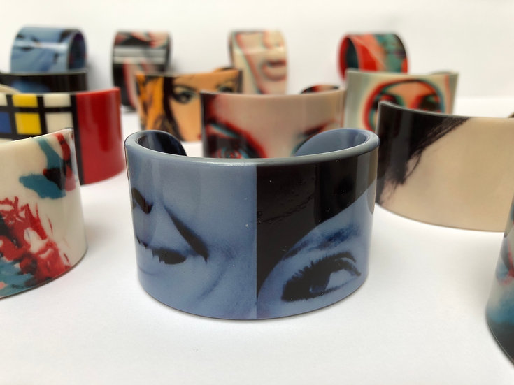 bracelet Audrey in blue yeux vs bouche