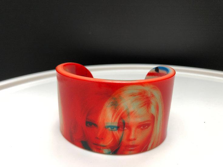 """bracelet """"Nancy Sinatra""""/ 3D orange"""