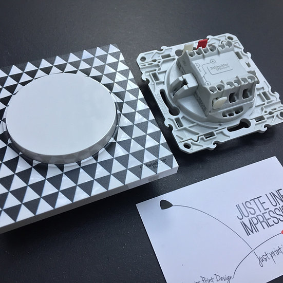 interrupteur scandinave/bouton blanc