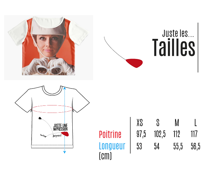 tailles tshirts/top manches