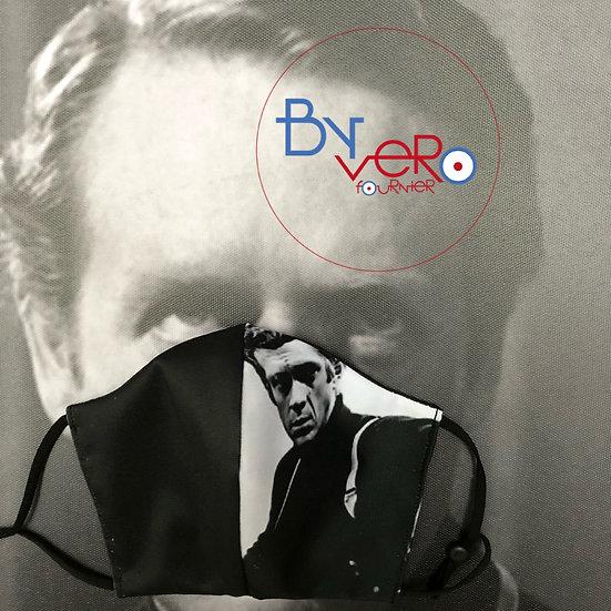 Masque tissu imprimé Steve Mc Queen Bullitt
