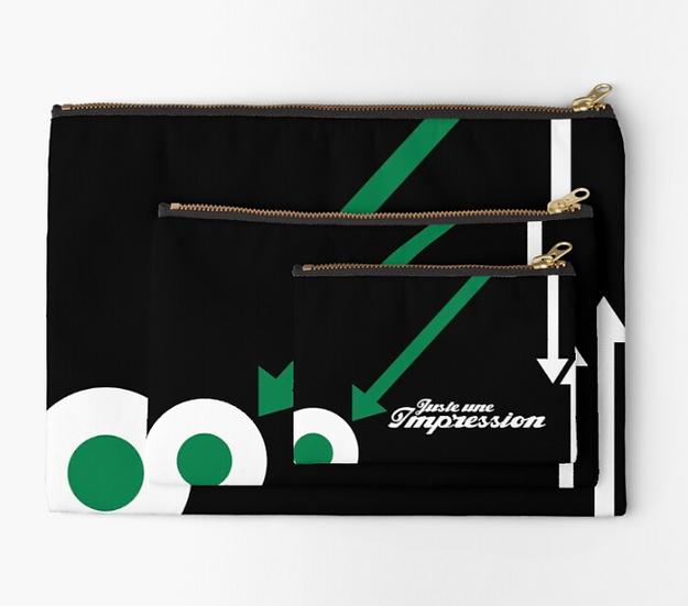 pochette cocarde flèche vert/noir/blanc by Juste une impression