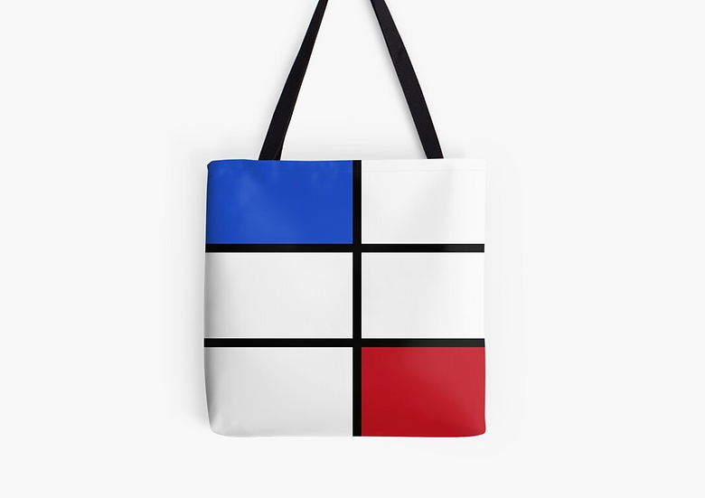 sac bleu/blanc/rouge inspiration Mondrian