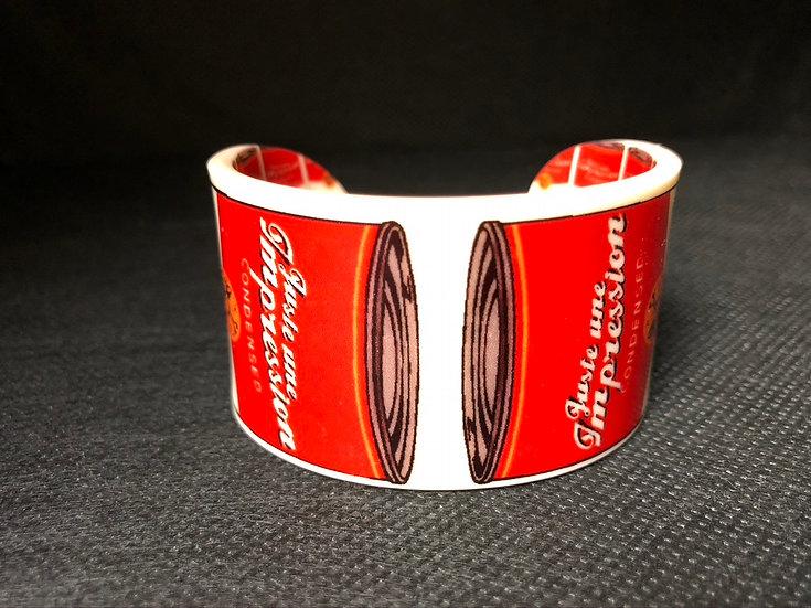bracelet manchette Juste une impression creative soup