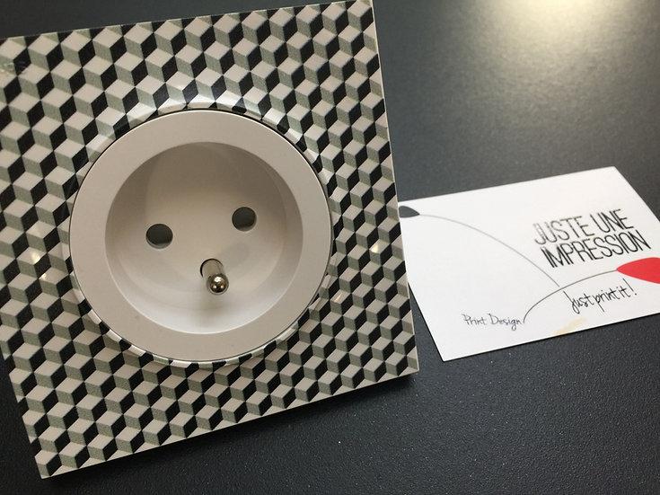 prise de courant cubes noir/gris/blanc