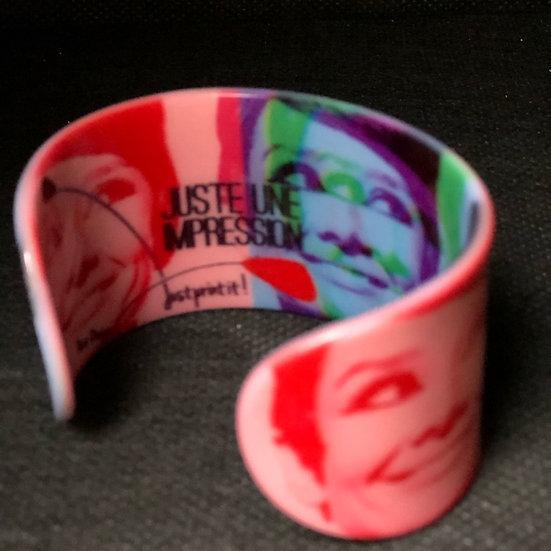bracelet manchette Audrey Hepburn multicolore