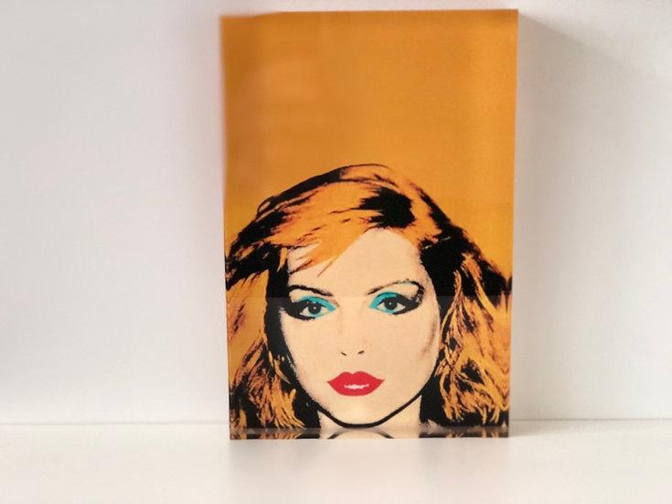 bloc plexiglass imprimé Blondie by Warhol