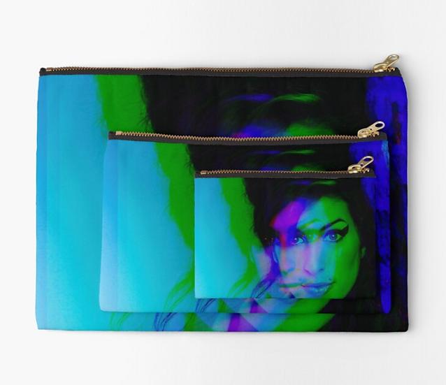 pochette Amy Winehouse effet 3D multicolore
