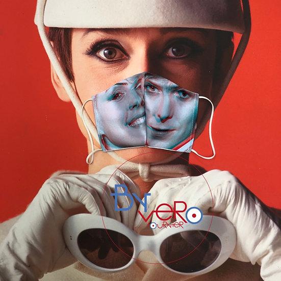 Masque unique iconique couple Debbie Harry / David Bowie 3D effect