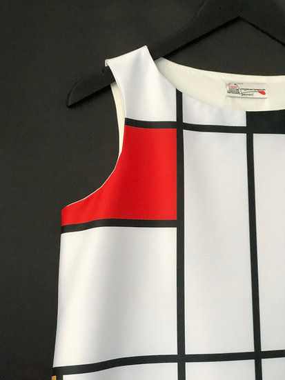 "robe ""Mondrian"" by Juste une impression / classic Mondrian dress"