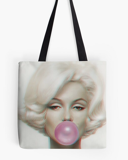 sac Maryline Monroe bubble 3D effect