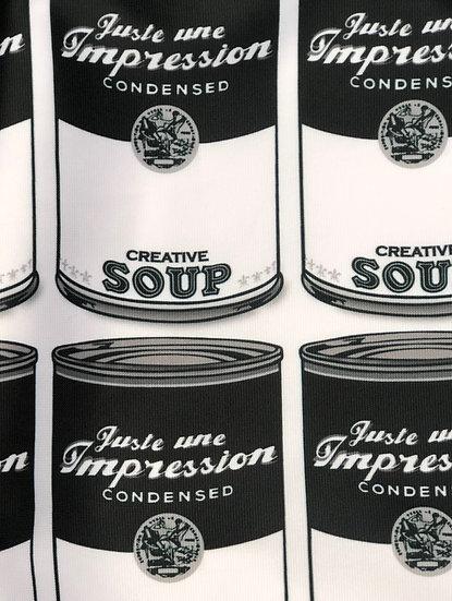 robe revisite de la Campbells' creative soup version Black & White