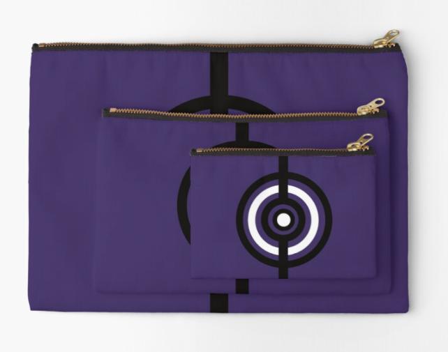 Pochette cible Noir/Violet/Blanc