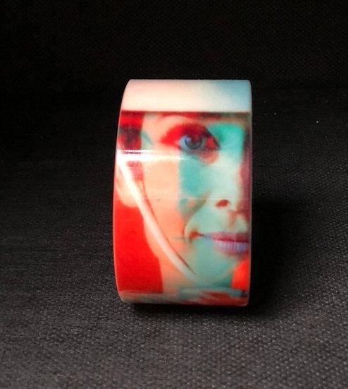 bracelet manchette Audrey Hepburn 3D orange