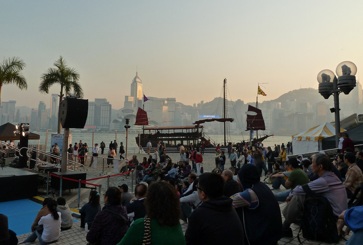 Dancing Into A Hong Kong Sunset
