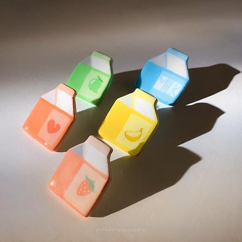 Handmade Fruit Milk Pin