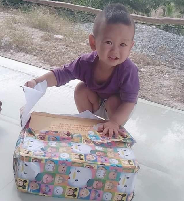 Child with a gift