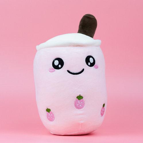 Pink Strawberry Boba Plush