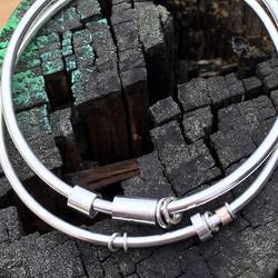 banglesHalf gnarled link necklace wi