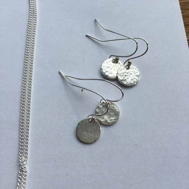Earrings #handmade #silversmith #jewellerymaker #jewellery #babyasleep #opengardens