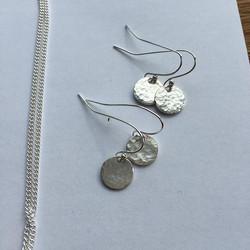 Earrings #handmade #silversmith #jewellerymaker #jewellery #babyasleep #opengardens