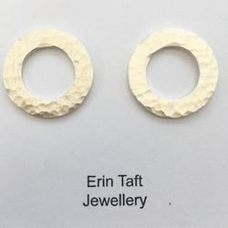 Some silver stud style earrings #jewellery #jewellerymaker #silversmith #bossmama #handmade #madeath