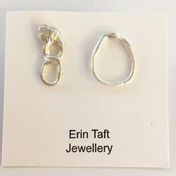 Odd studs £17 #jewellerymaker #silversmith #earrings #earrings #handmade