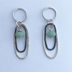 Made these tonight will photograph in the light tomorrow #earrings #layering #amzonite #oxidisedjewe